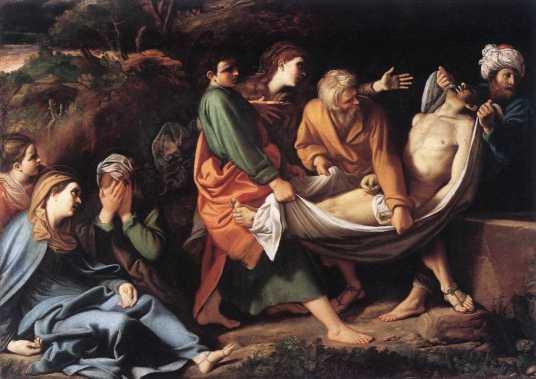 Wielka Sobota - Jezus złożony do grobu