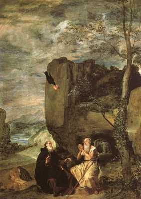 Święty Paweł Pustelnik i św. Antoni